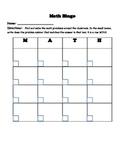 Math Movement Bingo