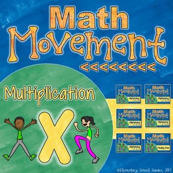 Math Movement (Math Fluency Exercise Break) - MULTIPLICATION