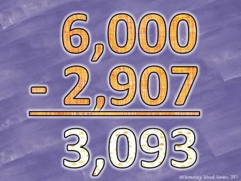 Math Movement (Math Fluency Exercise Break) - SUBTRACTION