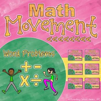 Math Movement (Math Fluency Exercise Break) - WORD PROBLEMS