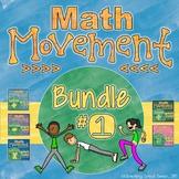 Math Movement (Math Fluency Exercise Break) - BUNDLE 1