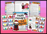 Math Movers 3-D Figures Geometry Review game for your ENTIRE Class!