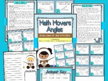 Math Movers Angles Review Game for Your Entire Class