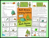 Math Movers Camping Edition Math Review Game for Your Entire Class!