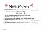 Math Movers - Decimals to Fractions