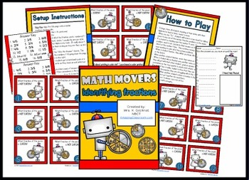 Math Movers Identifying Fractions Review Game for Your ENTIRE Class!