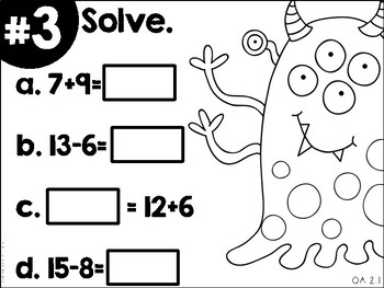 Math Movers: Monsters Edition