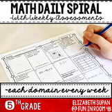 Math Moves: 5th Grade Math Spiral Review   Distance Learni
