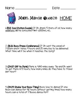 Math Movie Quest: Home