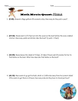 Math Movie Quest: Moana