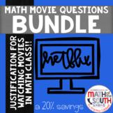 Math Movie Questions BUNDLE - SAVE 20%