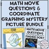 Math Movie Questions and Coordinate Graphing Mystery Picture BUNDLE