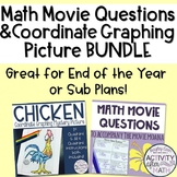 Math Movie Questions and Coordinate Graphing Picture BUNDLE