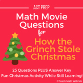 Math Movie Questions for How the Grinch Stole Christmas -
