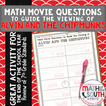 Math Movie Questions to Guide the Viewing of Alvin and the Chipmunks Movie