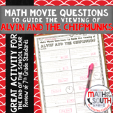 Math Movie Questions to Guide the Viewing of Alvin and the