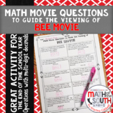 Math Movie Questions to Guide the Viewing of Bee Movie
