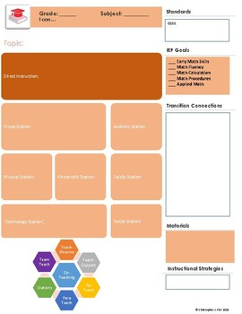 Math Multi-Modal Stations Planning Template