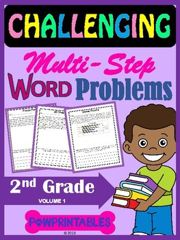 Challenging Word Problems - 2nd Grade - Multi-Step - Common Core Aligned