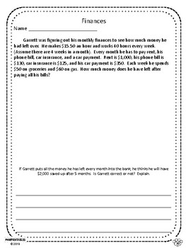 Challenging Word Problems - 4th Grade - Multi-Step - Common Core Aligned