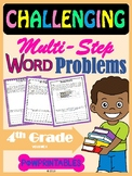 Challenging Word Problems - 4th Grade - Multi-Step - Commo