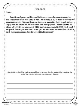 Challenging Word Problems - 6th Grade - Multi-Step - Common Core Aligned