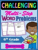 Challenging Word Problems - 6th Grade - Multi-Step - Commo
