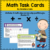Math Multi-Step and One-Step Task Cards