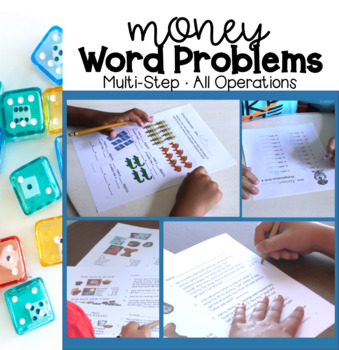Math Multi-step Money Word Problems for Grades 4-5