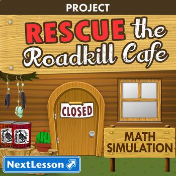 Math: Multimedia Project based Lesson - Roadkill Cafe - Common Core Aligned
