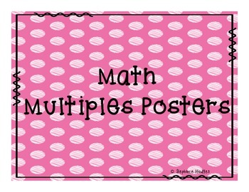 Math Multiples Posters