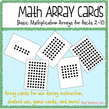 Math Multiplication Array Cards By Real Teachers Learn TpT