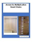 Math-- Bead Chain Arrows for Multiplication sentences.