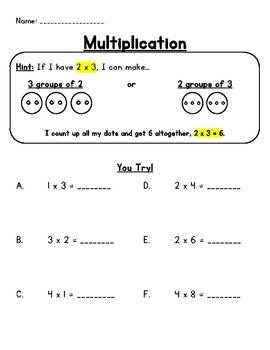 Math- Multiplication Differentiated Worksheets