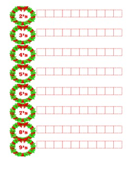 Christmas Math Multiplication Drills Merry Multiples {Common Core}
