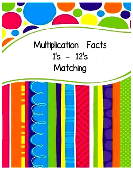 Math Multiplication Facts Matching