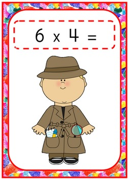 Math Multiplication Flashcards
