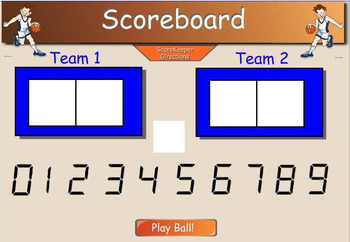 Math Multiplication Basketball Smart Board game (2 digits x 2 digits)