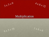 Math Multiplication PowerPoint lesson and Vocabulary