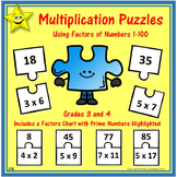 Multiplication Puzzles, Factors of Numbers 1-100