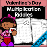 Valentine's Day Math - Multiplication Riddles