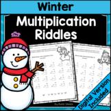 Winter Math - Multiplication Riddles
