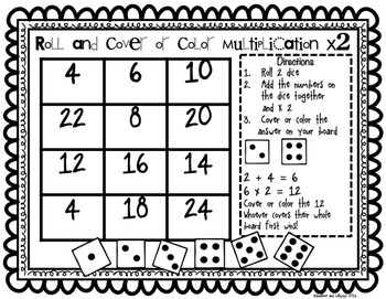 Multiplication Game Roll and Cover