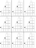 Math Multiplication Template 2-digit by 2-digit (4 Differe