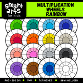 Math Multiplication Wheels Rainbow Clip Art