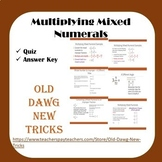 Math - Multiplying Mixed Numerals Quiz