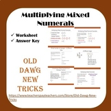 Math - Multiplying Mixed Numerals Worksheet