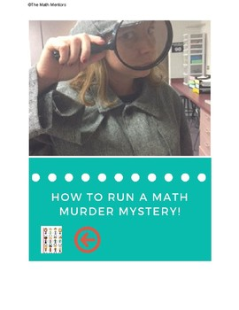 Math Murder Mystery - Exponent Rules/ Exponential Growth and Decay