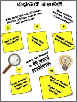 Math Muse Word Problem Practice Grade 3-6
