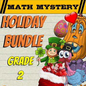 2nd Grade Halloween Activity, Thanksgiving Activity + 9 More Math Mysteries